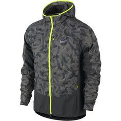 Nike - Printed Trail Kiger ジャケット - HO14 超軽量のリップストップ素材・撥水仕上げによる防風・防水性で雨の日のトレランも快適。フード収納可能、複数のファスナー付きポケット、本体も備え付けポケットに収納可能
