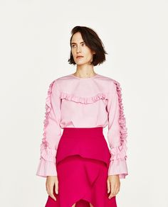 Image 3 of FRILLED TOP from Zara