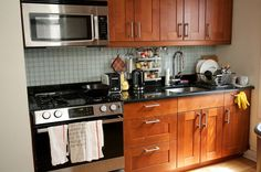 This is actually about the space I have to redo the kitchen. I like the honey color cabinets