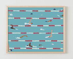 Fine Art Print.  Swim Team Practice May 5 2016. by joreyhurley