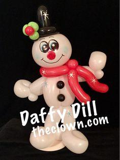 Sweet little Balloon Snowman.