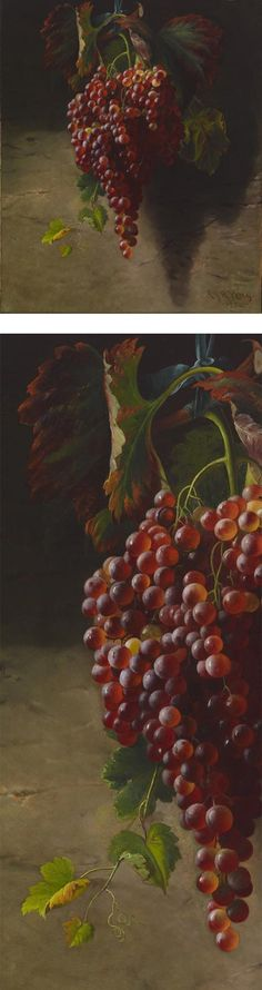 Eye Candy for Today: Bunch of Grapes (1873), Andrew John Henry Way (1826-1888), oil on canvas.