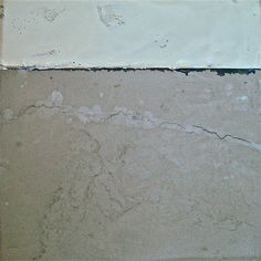 Horizon - encaustic and concrete by Gerda Liebmann                                                               could I use my slate pieces to encaustic with?