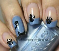 cat nail art designs kitty cat nail art _ cat nail art easy _ cat nail art designs _ cat nail art cute _ cat nail art halloween _ cat nail art step by step _ cat nail art designs kitty Cat Nail Art, Animal Nail Art, Cat Nails, Fancy Nails, Love Nails, Pretty Nails, Nagel Hacks, Manicure E Pedicure, Nagel Gel