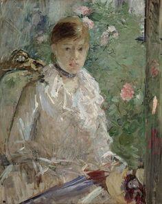 Berthe Morisot         «L'Eté» ou «Jeune Femme près d'une Fenêtre»