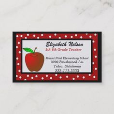 Shop Whimsical Polka Dots Teacher's business card created by Justforteachers. Personalize it with photos & text or purchase as is! Teacher Business Cards, Cool Business Cards, Best Teacher Gifts, Teacher Favorite Things, Teacher Birthday, Teacher Supplies, School Supplies, Standard Business Card Size, Teacher Appreciation Week