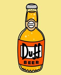 Duff Beer, The Simpsons Duff Beer, Best 90s Cartoons, Hey Arnold, Beer Pong Tables, 2 Logo, Backrounds, Future Tattoos, The Simpsons, The Duff