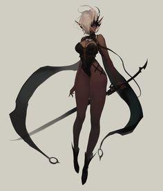 Dark elf from drow Fantasy Character Design, Character Design Inspiration, Character Concept, Character Art, Concept Art, Black Anime Characters, Fantasy Characters, Female Characters, Dark Fantasy Art