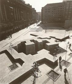 """The Basque Liberties Plaza"", Vitoria/Gasteiz, 1980 // Eduardo Chillida Landscape And Urbanism, Urban Landscape, Landscape Design, Architecture Design, Contemporary Architecture, Singapore Architecture, Public Architecture, Contemporary Art, Exterior"