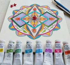 Hand-maid mandala painting.  Colors, texture, patterns. By BRIT follow on facebook- https://www.facebook.com/BRITcolors/?fref=nf