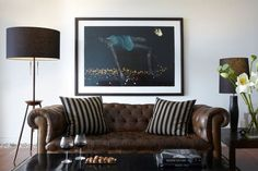 Living room - Leather couch
