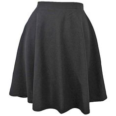 Black Short Flared Skater Skirt ($25) ❤ liked on Polyvore featuring skirts, black, skater skirt, pleated circle skirt, knee length flared skirts, short flared skirt and knee length skater skirt
