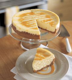 Mascarpone Cheesecake with Roasted Cashew Crust and Passion Fruit Caramel Sauce
