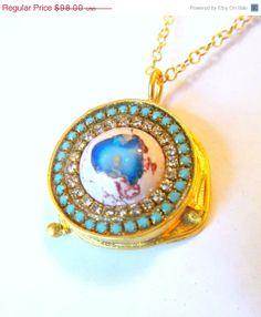 NEWYEAR SALE Mexican Opal multi crystal by YaronaJewelryDesign, $84.28