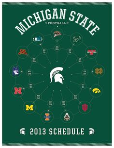 2013 Michigan State Spartans Football Schedule