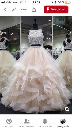 Prom Dresses Long, Evening Dresses Two Piece, Open Back Evening Dresses, Prom Dresses Sleeveless Prom Dresses Prom Dresses 2019 Pretty Quinceanera Dresses, Pretty Prom Dresses, Sequin Prom Dresses, Ball Dresses, Ball Gowns, Ball Gown Prom Dresses, Champagne Quinceanera Dresses, Elegant Dresses, Quinceanera Decorations