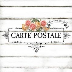 French Vintage Carte Postale Shabby Chic Victorian by CreatifBelle