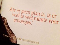 Als er geen plan is....