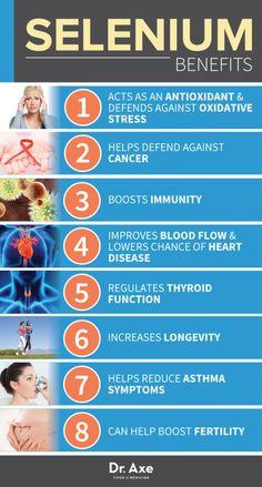 Selenium Health Benefits Chart