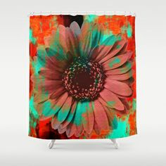 Lysergic Flower Shower Curtain by Maximilian San - $68.00