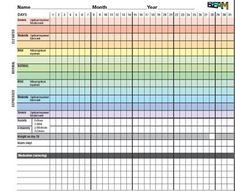 Bipolar Disorder, Mood Charts and You (Free Mood Chart!) | Bipolar Family  Good information and sample of filled out chart