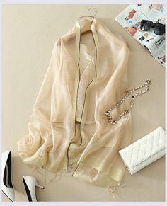 Elegantný ľahký dámsky hodvábny šál - vzor 03
