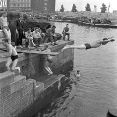 Scheepmakerskade / Leuvehaven in Rotterdam Rotterdam, Family History, World War Ii, Netherlands, Holland, Dutch, Destinations, Memories, America
