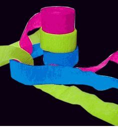 Black Light Reactive Neon Party Streamers