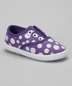 Look at this #zulilyfind! Purple Polka Dot Slip-On Sneaker by Ositos Shoes #zulilyfinds