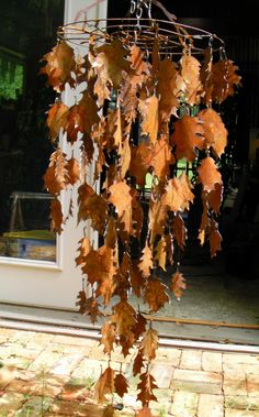 .autumn leaves wind chime