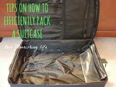 Tips On How To Efficiently Pack A Suitcase #sponsored http://www.thisflourishinglife.com/2013/06/tips-on-how-to-fficiently-pack-a-suitcase.html