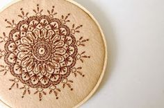 SewSweetStitches: DIY Embroidered Mandala Tutorial