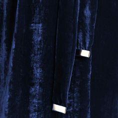 Navy-blue Velvet Wrap Dress #Blackdress #ltb #velvetDress #silk #SilkVELVET #wrapdress Blue Velvet, Black Silk, Wrap Dress, Navy Blue, How To Wear, Spirit, Prom, Dresses, Fashion