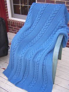 free pattern, cable afghan