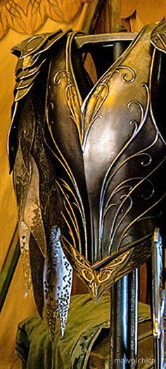 Hobbit: Thranduil's Armor in Battle of Five Armies Legolas And Thranduil, Thranduil Cosplay, Hobbit Costume, Martial, Medieval, Desolation Of Smaug, Steampunk, Jackson, Elvish