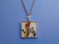 Nick and Judy Zootopia inspired necklace by TinkerGirlBoutique