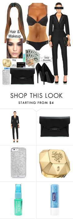 """""""Night out"""" by cb2698 ❤ liked on Polyvore featuring Veronica Beard, Givenchy, Paco Rabanne, Anatomicals and Nivea"""