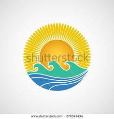 Summer logo vector - stock vector