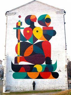 Collection of cool urban urban art, street art & graffiti art from a variety of urban artists - see more on Mr Pilgrim buy street art online site. Murals Street Art, Street Art Utopia, Street Art Graffiti, Urban Graffiti, Banksy, Graffiti Artwork, Mural Art, Wall Art, Wall Mural