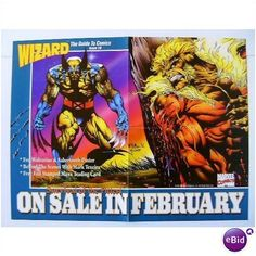 ORIGINAL VINTAGE 1993 X-MEN WOLVERINE vs SABERTOOTH MARVEL COMICS PROMO POSTER 1 Listing in the Posters,Comics,Books, Comics  & Magazines Category on eBid United States | 26505553