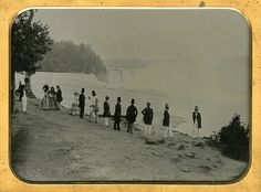 Vintage picture of Niagara Falls Niagara Falls Pictures, Long Gone, Daguerreotype, Vintage Pictures, Beautiful World, United States, America, Explore, Awesome