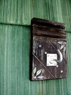 Wall Hook  Vintage Wood Trim Towel Purse Industrial by CrazyBeak, $18.00