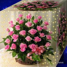 Pretty Gif, Beautiful Gif, Beautiful Roses, Beautiful Flowers, Bisous Gif, Animiertes Gif, Good Night Greetings, Glitter Graphics, Love Rose
