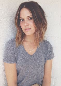 Must-See kurze Haarfarbe Ideen Hair Dos, My Hair, Mandy Moore Hair, Ombre Bob, Ombre Hair, Short Ombre, Medium Hair Styles, Short Hair Styles, Corte Y Color