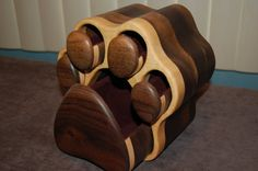 Dog paw print jewelry box Two sided-Large is by ImageryWoodworking