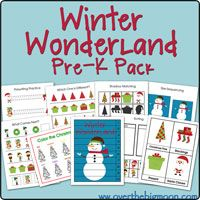 winter wonderland Pre K Packs