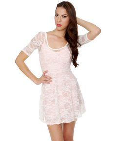 Blossom Trail Sheer Lace White Dress - It's after Memorial Day... time to break out the little white dresses!
