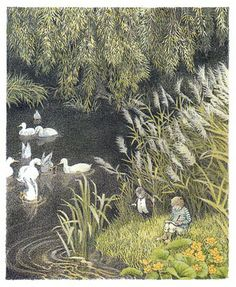 illustration by Inga Moore for The Wind in the Willows by Kenneth Grahame