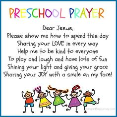 Preschool prayer for your littlest Jesus lover! Click over to save and print!