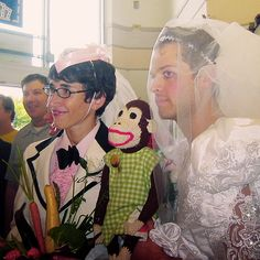 Misha and Vicki renewed their wedding vows in an Albertsons store.